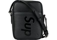 A LOUIS VUITTON x SUPREME DANUBE   MESSENGER BAG Black  LEATHER SHOULDER BAG EPI