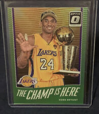 2017-18 DONRUSS OPTIC KOBE BRYANT THE CHAMP IS HERE LIME GREEN PRIZM #55/175 SP