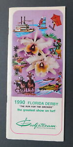 1990 FLORIDA DERBY Program - UNBRIDLED - PAT DAY -  FRANCES A. GENTER STABLE