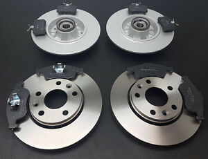 FOR RENAULT MEGANE MK3 COUPE FRONT REAR BRAKE DISCS PADS WHEEL BEARINGS ABS RING