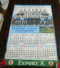 "Export ""A""  Maple Leaf Gardens Calendar Page Toronto Maple Leafs 1971 - 1972 # 2"