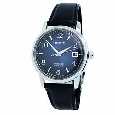 Seiko Presage Cocktail Blue Dial Black Leather Men's Watch SRPE43J1