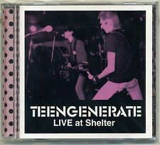 Teengenerate-Live at Shelter CD first japón Press garaje raydios SUPERSNAZZ