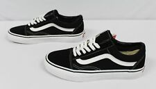 Vans Unisex Lace-Up Classic Old Skool Sneakers BF5 Black/White Size M:6.5 W:8