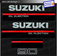 Adesivi motore marino fuoribordo Suzuki 90 oil injected  gommone barca stickers