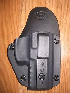 IWB Kydex/Leather Hybrid Holster small print with adjustable retention for S&W