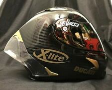 X-Lite X803RS Carbon FREE GOLD EDITION Visor & Ducati Stickers Motorbike Helmet