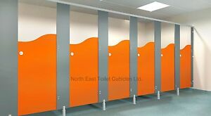 Toilet Cubicles & Fittings - 4 Cubicles Between Walls