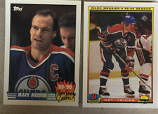 2 Mark Messier Cards 1990-91 Topps Team Scoring Leaders #16 Bowman Hat Tricks #4