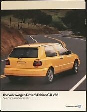 "Rare! 1997 Volkswagen ""Drivers Edition"" GTI VR6 Sales Brochure"
