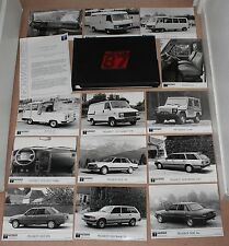 (38B) RARE DOSSIER PRESSE GAMME PEUGEOT 1987 (205 GTI/ CTI / 505 V6 /GTi / P4)