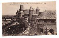 11 - cpa - Cité de CARCASSONNE - La tour Wisigothe et le château