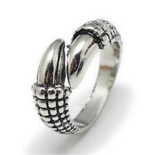 Ring Drache Drachen Klaue Adler Klauen Kralle Krallen  Dark Silver Silber Neu V
