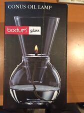 New Bodum Glass Conus Oil Lamp