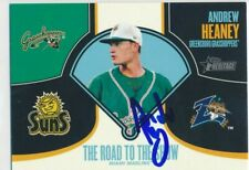 Andrew Heaney Greensboro Grasshoppers Autographed 2013 Topps Heritage RTTS Card
