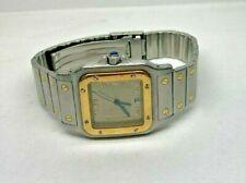 Cartier Santos Galbee 18k/SS Quartz Watch Bronze Dial **NO RESERVE**