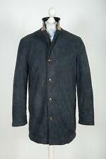 Mens Burberry Black Coat Jacket Genuine Nova Check Size 46
