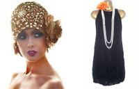 WAREHOUSE Black 1920s Flapper Charleston Lace Gatsby Party Dress Size 10