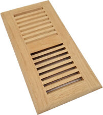 "Homewell 4"" x 10"" Red Oak Wood Floor Register Vent, Drop In Vent, Unfinished"