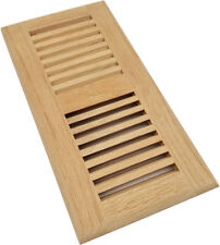 Homewell Red Oak Wood Floor Register Vent, Drop In Vent, 4x10 Inch, Unfinished