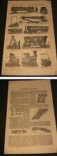 Holzstich um 1898-Transportale Eisenbahnen diverse Modelle.Original Bild-Bericht