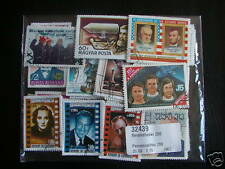 *** LOT TIMBRES CELEBRITES : 50 TIMBRES TOUS DIFFERENTS / CELEBRITY STAMPS ****