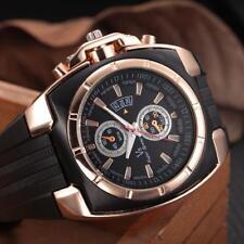 Fashion Men's Thin Silica Gel Watches Students Sports Quartz Number Wrist Watch