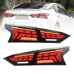 For Nissan ALTIMA  2019 2020 2021 LED Taillights Assembly Dark/Red LED Rear Lamp