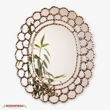 "Decorative Gold Oval Wall Mirror 23.6""- Peruvian Accent Mirror for Wall decor"