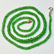 2.5mm-5.6mm Tsavorite Green Garnet Faceted Rondelle Beads 17.5 inch strand