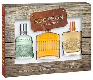 Stetson 3 Gift Set Collection ( Fresh + Original + Rich Suede Colognes Perfumes)