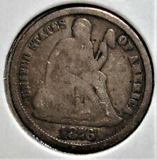 1876-CC Silver Liberty Seated Dime