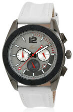 Lacoste 2010667 Panama Grey Dial White Leather Strap Chronograph Men's Watch