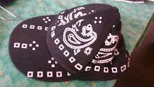 Casquette type bandana noire et blanche
