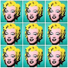 Fantástico Marilyn Monroe Pop Art Collage De Lona #4 XXL Foto 76X76 Andy Warhol