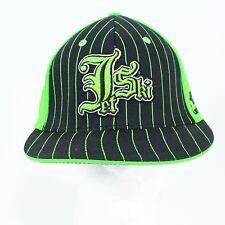 JET SKI Tek Flex Kawasaki Green & Black Snap Back Baseball Cap Hat Size LX NWT