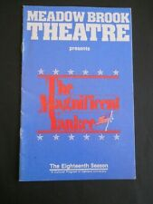 1983-84 - The Meadow Brook Theatre program - The Magnificent Yankee