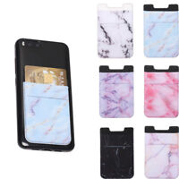 Cellphone Pocket Phone Card Holder Lycra Wallet Case Elastic Adhesive Sticker