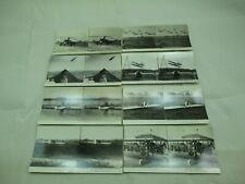 Keystone Jr. Early Aviation Wright Stereoview Cards Set (8) Medium Size 009Jv