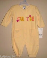 Carters Spring Flower Jumpsuit CUTIE Pale Yellow 6 mos