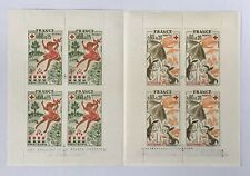 FRENCH RED CROSS 1975 Stamp Booklet Croix-Rouge Française BLK4 x2 France Stamps