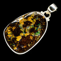"Boulder Opal 925 Sterling Silver Pendant 1 3/4"" Ana Co Jewelry P706054F"