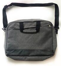 """Laptop Bag 15"""" Computer Shoulder Bag Laptop Case Black Gray Briefcase Travel"""