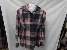 roxy  plaid coat size M