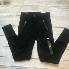 American Eagle High Rise Jeggings Super Stretch - 2 - Pants Pockets Zippers Moto