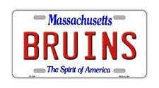 "Metal Vanity License Plate Tag Cover - Boston Bruins - Hockey Team - 12"" x 6"""