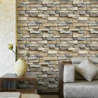 3D Stone Textured Peel and Stick Wallpaper Self-Adhesive Décor Film for Room