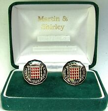 1965 Threepence cufflinks  real coins in Black & Gold