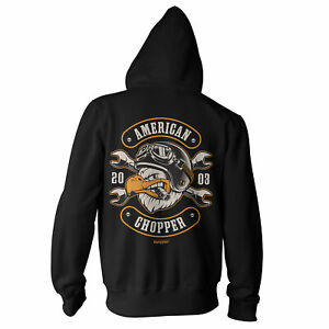 Licensed American Chopper - Cigar Eagle BIG & TALL 3XL, 4XL, 5XL Zipped Hoodie