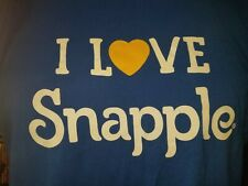 I LOVE Snapple blue XL t-shirt, brand of flavored teas and juice drinks